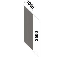 Perf.back sheet metal 2500x1000 zn