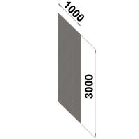 Perf.back sheet metal 3000x1000 zn