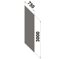Perf.back sheet metal 3000x750 zn