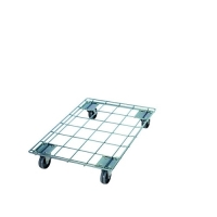 Galvanised bcrate trolley 820x620x150mm