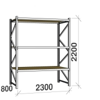 Starter bay 2200x2300x800 350kg/level,3 levels with chipboard