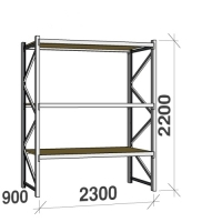 Starter bay 2200x2300x900 350kg/level,3 levels with chipboard