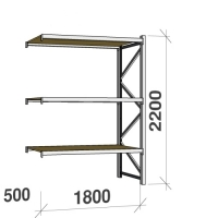 Extension bay 2200x1800x500 480kg/level,3 levels with chipboard