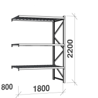 Extension bay 2200x1800x800 480kg/level,3 levels with steel decks