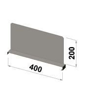 Shelf divider 400x200 zn