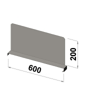 Shelf divider 600x200 zn