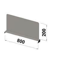 Shelf divider 800x200 zn
