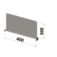 Shelf divider 400x250 zn