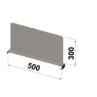 Shelf divider 500x300 zn