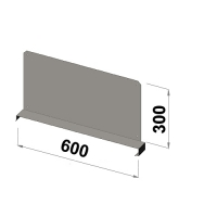 Shelf divider 600x300 zn