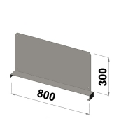 Shelf divider 800x300 zn