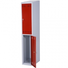 Clothing cabinet, red/grey 2 doors 1920x350x550