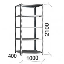 Metallriiul 2100x1000x400, 5 plaati, 120kg/plaat, hall