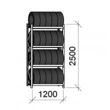 Starter bay, 2500x1200x500, 4 levels