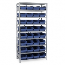Box shelf 2100x1000x500, 32 boxes 500x240x150