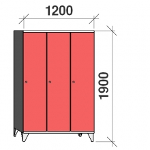 Locker 3x400, 1900x1200x545, long door