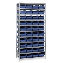 Box shelf 2100x1000x500, 40 boxes 500x240x150