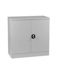 Dokumentskåp, 2 hyllor 900x900x450, grå, omonterat