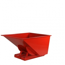 Tipping container 900L red