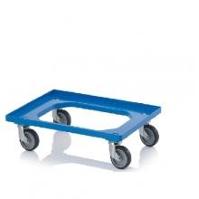 Tray trolley 620x420x100mm, blue