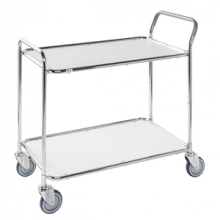 Shelf trolley, galv/white 1020x555x965mm, 250kg