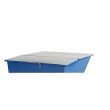 Flat lid for tipping container 900 l, grey
