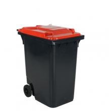 Refuse bin 360L, red lid