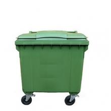 Refuse bin 1100L green