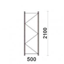 Frame H2100xD500mm  55*47*1,5