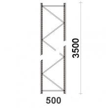 Frame H3500xD500mm  55*47*1.5