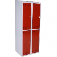 Clothing cabinet, red/grey 4 doors   1920x700x550