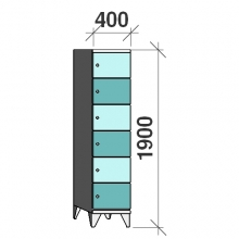 Sektsioonkapp, 6 ust, 1900x400x545 mm