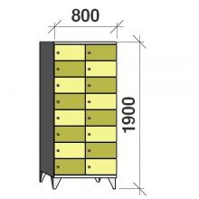 Sektsioonkapp, 16 ust, 1900x800x545 mm