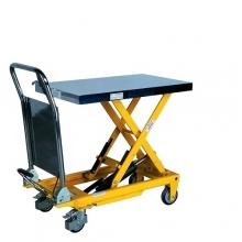 Lyftbordsvagn med hydraulisk fotpump, 300kg