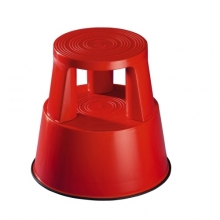 Plastic kickstool, red, Wedo