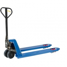Hand pallet truck 1150x540/2500 kg PU castors, blue