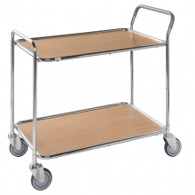 Service trolley with 2 shelves Beech 1020 x 555 x 965/150kg