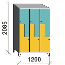 Z-kapp 2085x1200x545, 6 ust, kaldkatusega