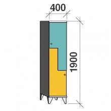 Z-kapp 1900x400x545, 2 ust