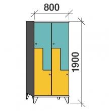 Z-locker 1900x800x545,4 doors