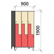 Z-locker 1900x900x545,6 doors