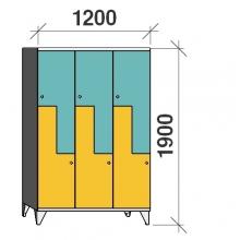 Z-locker 1900x1200x545,6 doors