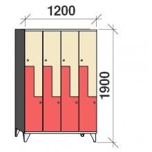 Z-locker 1900x1200x545, 8 doors